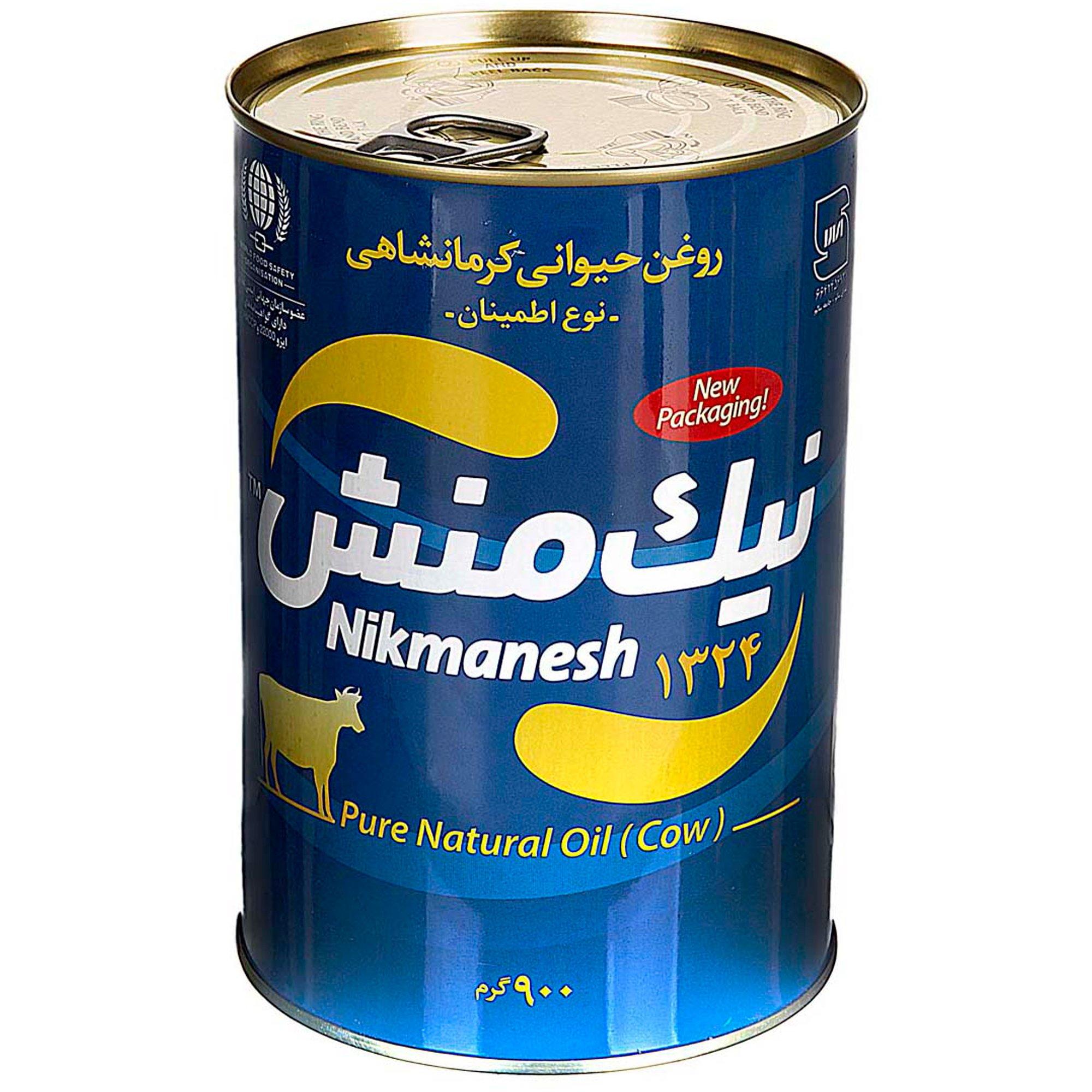 روغن حیوانی کرمانشاهی گاوی نیک منش ۹۰۰ گرمی