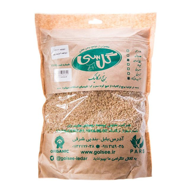 برنج طارم قهوه ای سی گل ۲ کیلوگرمی