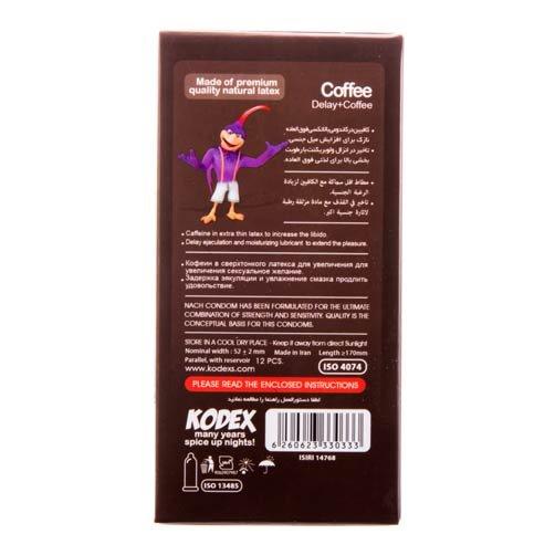 کاندوم تاخیری با رایحه قهوه کدکس ۱۲ عددی