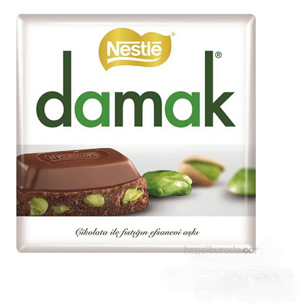 شکلات با مغزی پسته مدل داماک نستله 65 گرمی