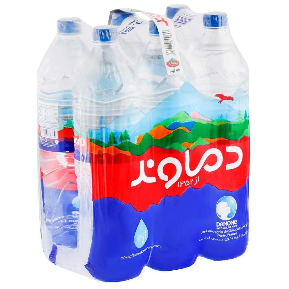 بسته ۶ عددی آب آشامیدنی دماوند ۱.۵ لیتری