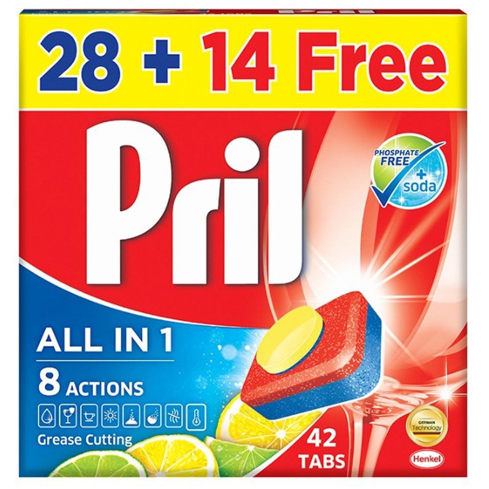 قرص ماشین ظرفشویی لیمویی جدید پریل 42 عددی