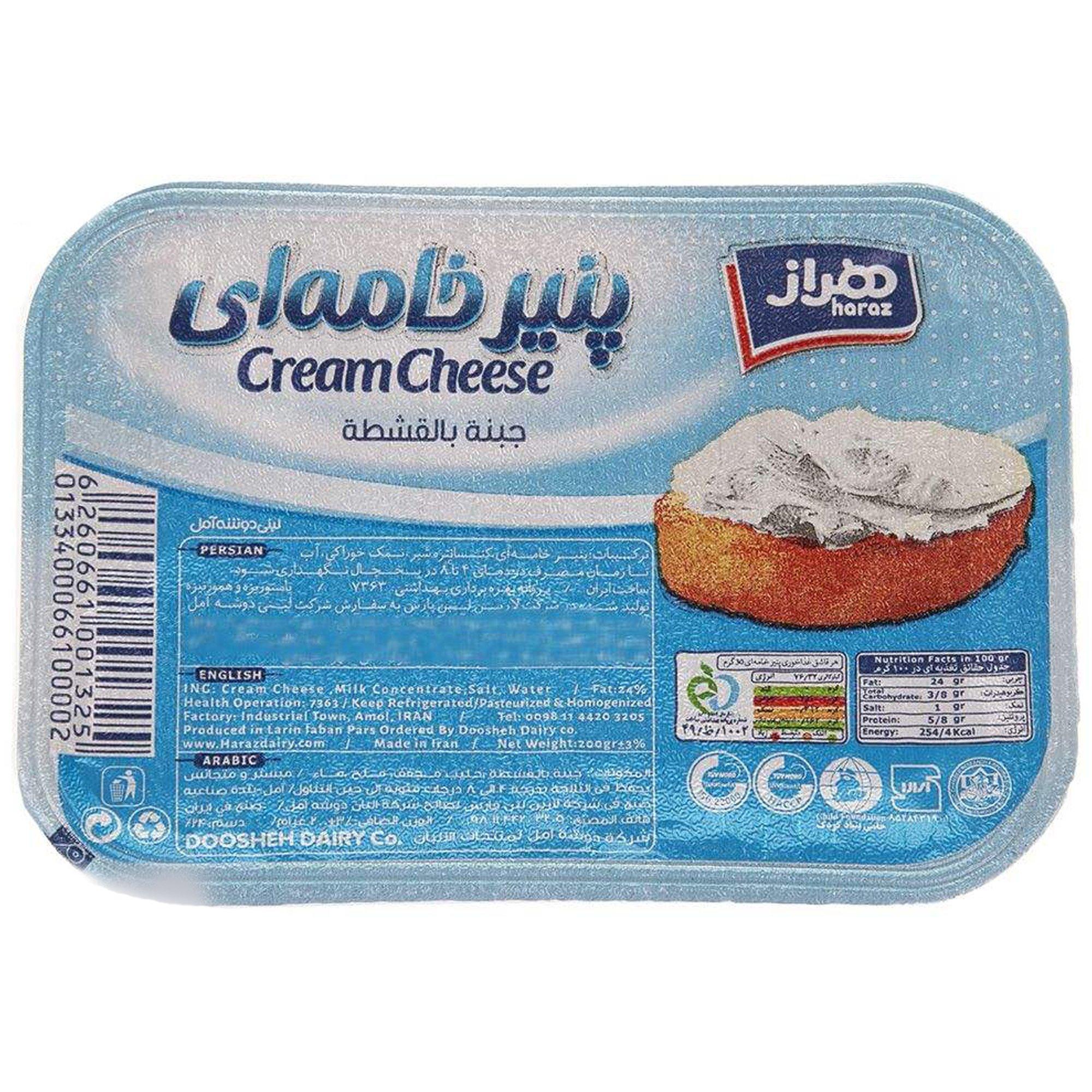 پنیر خامه ای هراز ۲۰۰ گرمی
