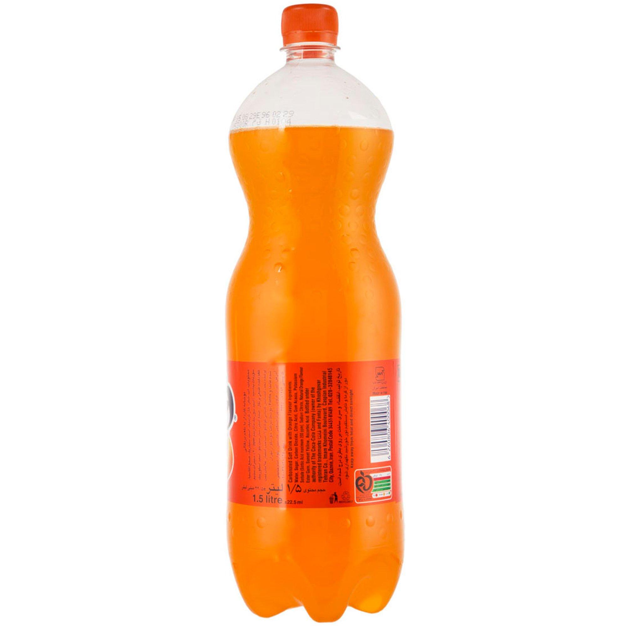 نوشابه پرتقالی فانتا ۱.۵ لیتری