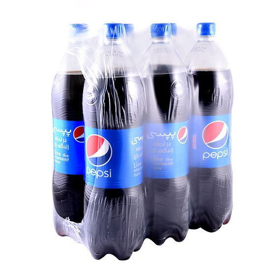 بسته ۶ عددی نوشابه گازدار کولا پپسی ۱.۵ لیتری