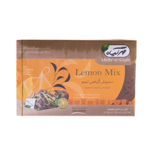 دمنوش گیاهی لیمو مهر گیاه ۱۴ عددی