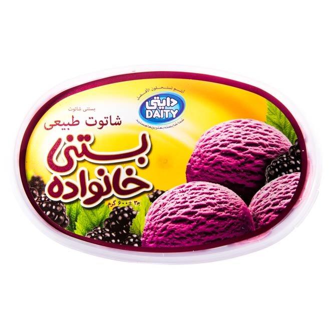 بستنی خانواده شاتوت دایتی ۶۰۰ گرمی