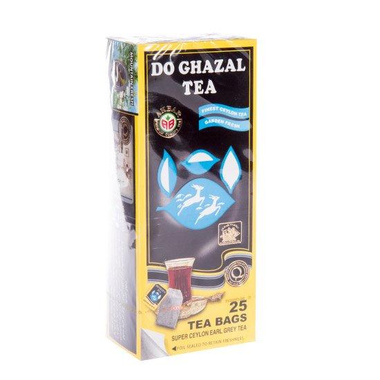 چای سیاه کیسهای خارجی (سیلان) با عطر ارل گری دوغزال ۲۵ عددی