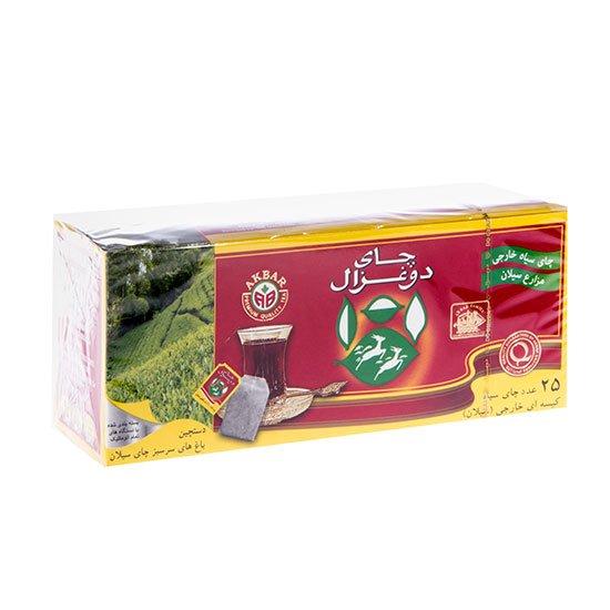 چای سیاه کیسهای خارجی (سیلان) دوغزال ۲۵ عددی
