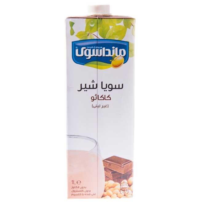 شیر سویا کاکائویی ماندا ۱ لیتری
