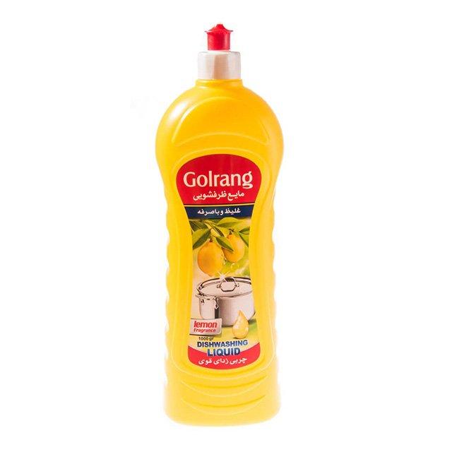 مایع ظرفشویی ورژن ۲ زرد گلرنگ ۱ کیلوگرمی