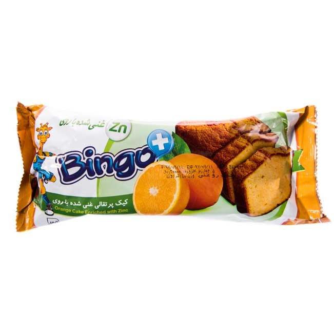 کیک پرتقالی غنی شده با روی بینگو ۱۴۰ گرمی