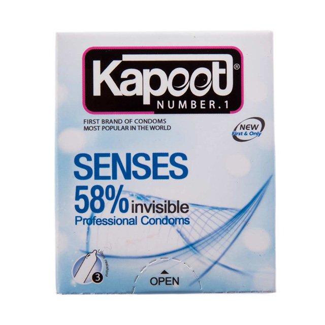 کاندوم ۵۸% نامرئی کاپوت ۳ عددی